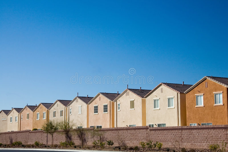 Track houses royalty free stock image