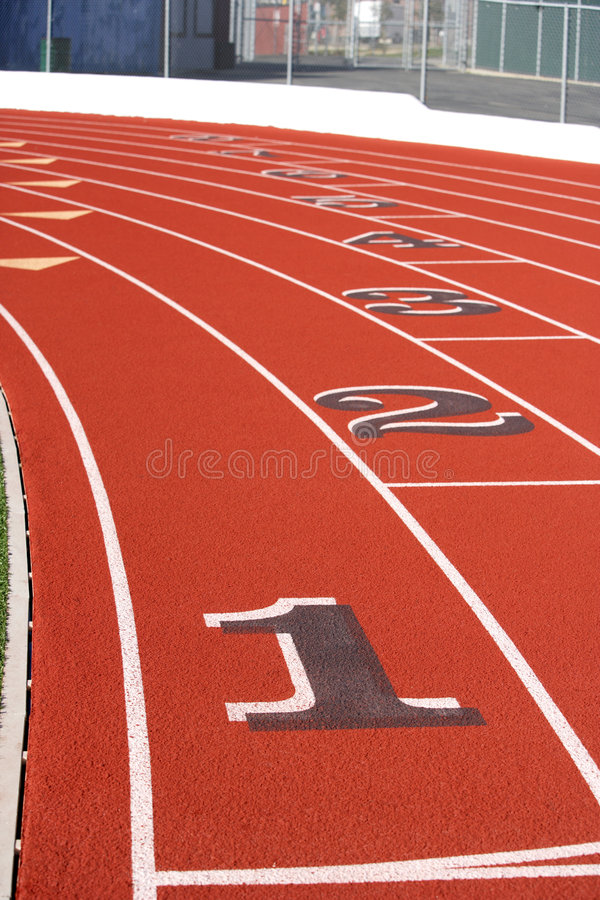 Track lanes stock images