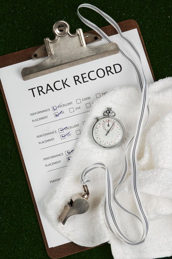 Track Record royalty free stock photography