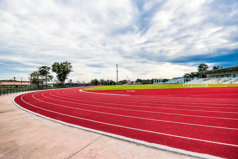 Track running in sport clup. Athletics royalty free stock images