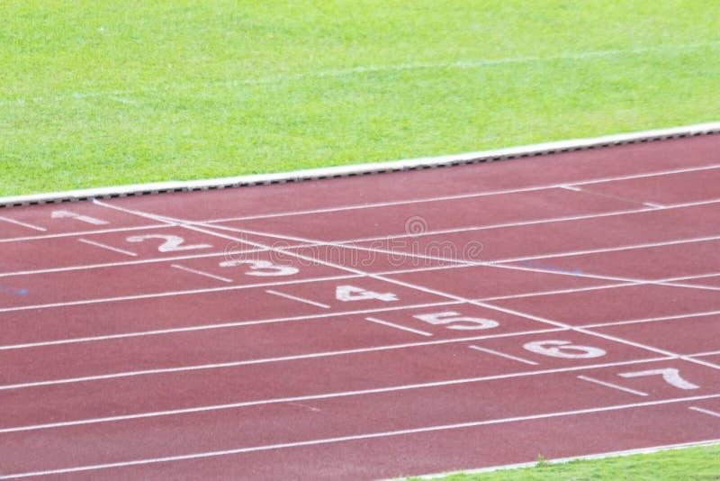 Track at a stadium stock photos