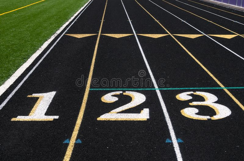 Track Starting Line 082 royalty free stock photo