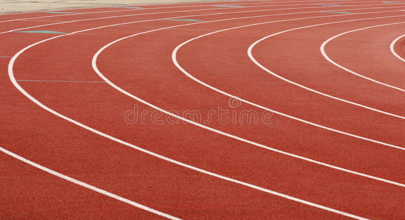Track At the Turn royalty free stock photography