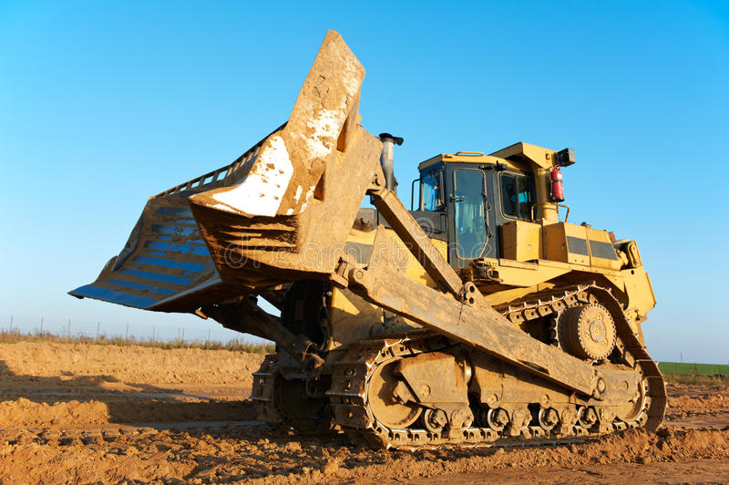 Track-type bulldozer loader royalty free stock photo