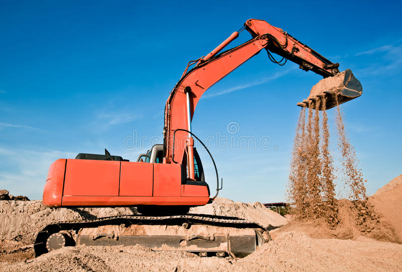 Download Track-type excavator stock photo. Image of digger, load - 21544312