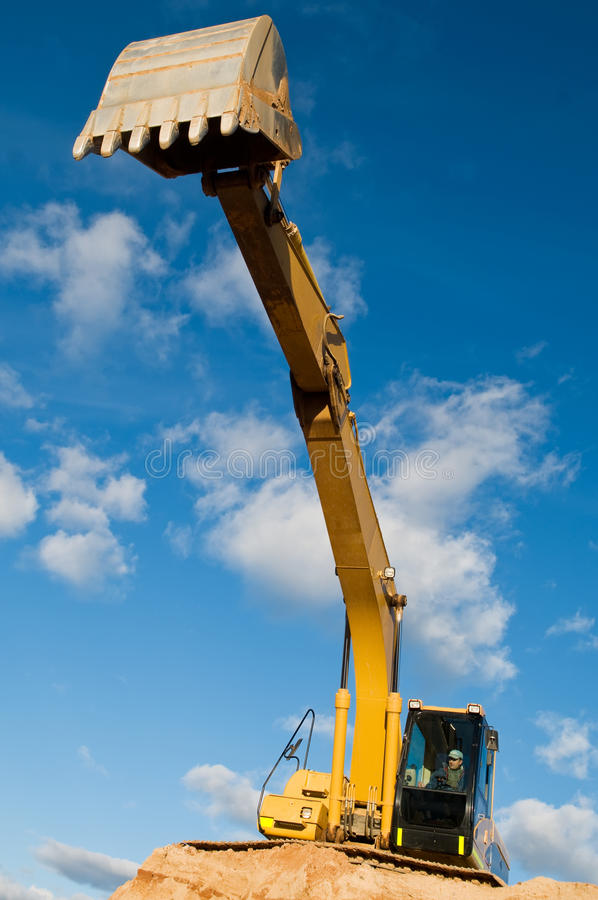 Download Track-type Loader Excavator At Sand Royalty Free Stock Photography - Image: 16479687