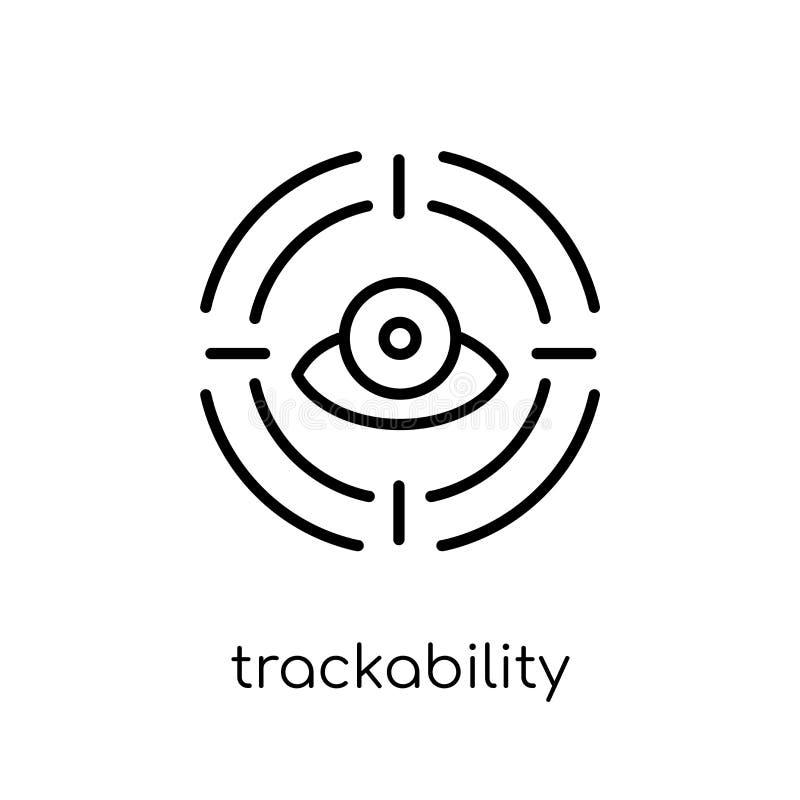 trackability象 时髦现代平的线性传染媒介trackability 向量例证
