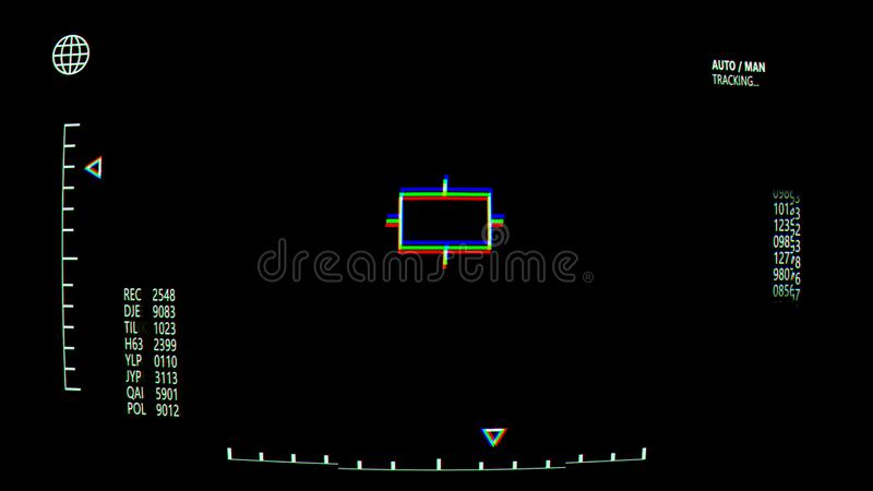 Retro Heads Up Display, Screen Overlay stock illustration
