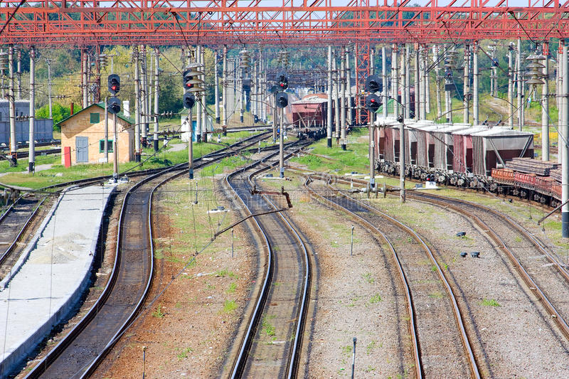 Download Tracks stock photo. Image of cable, traffic, cargo, view - 25191260