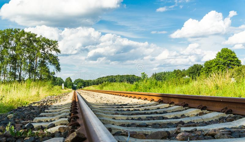 Tracks perspective landscape view royalty free stock photos
