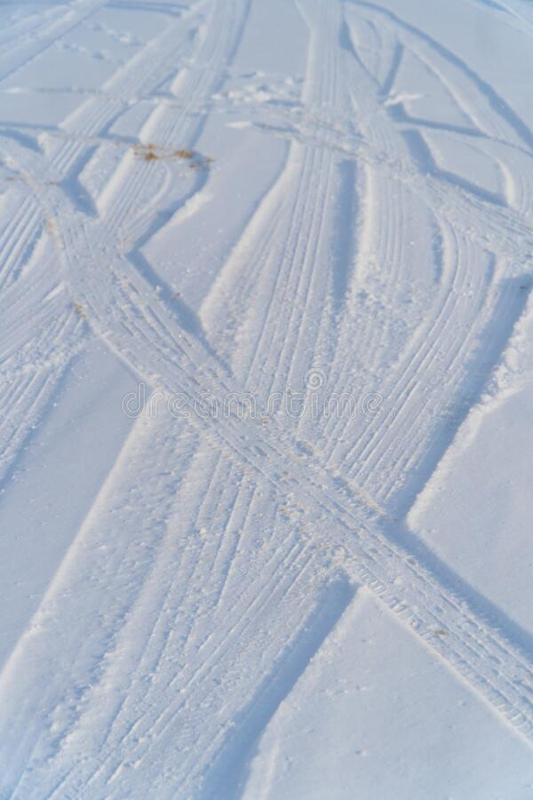 Tracks through the Snow royalty free stock photography