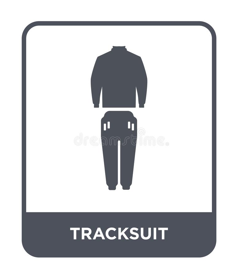 Tracksuit icon in trendy design style. tracksuit icon isolated on white background. tracksuit vector icon simple and modern flat. Symbol for web site, mobile vector illustration
