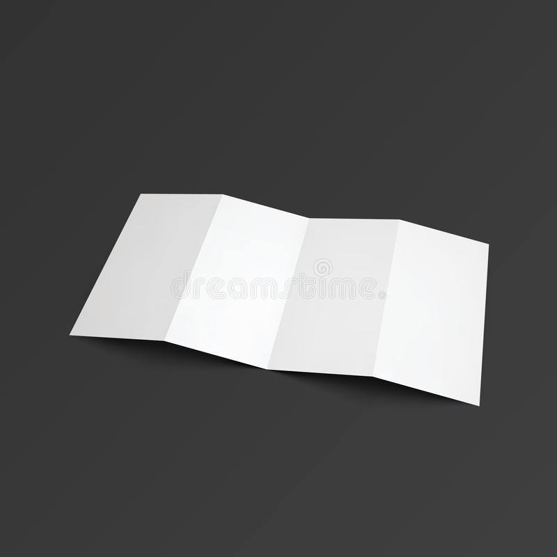 Tract de zigzag plié sur quatre parts illustration de vecteur