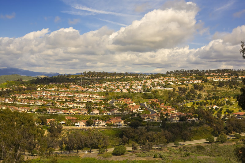 Tract Homes in San Clemente California royalty free stock photo