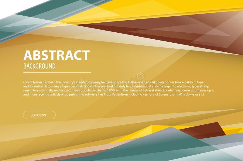 Tract moderne géométrique de société de design d'entreprise de fond polygonal beige de résumé, insecte, calibre de couverture Fon illustration libre de droits
