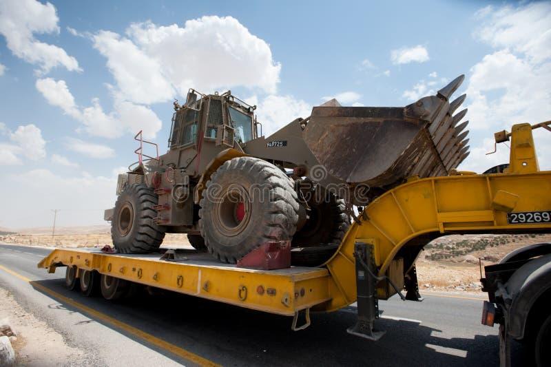 Tracteur à chenilles blindé israélien en Cisjordanie photos libres de droits