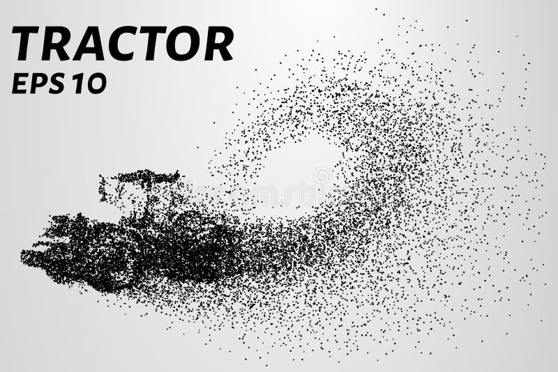 Tracteur des particules Le tracteur de vecteur se compose de petits cercles illustration de vecteur