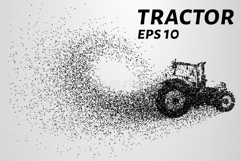Tracteur des particules Le tracteur se compose de petits cercles Illustration de vecteur illustration libre de droits