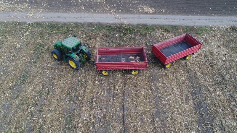 Tracteur et remorques photo libre de droits