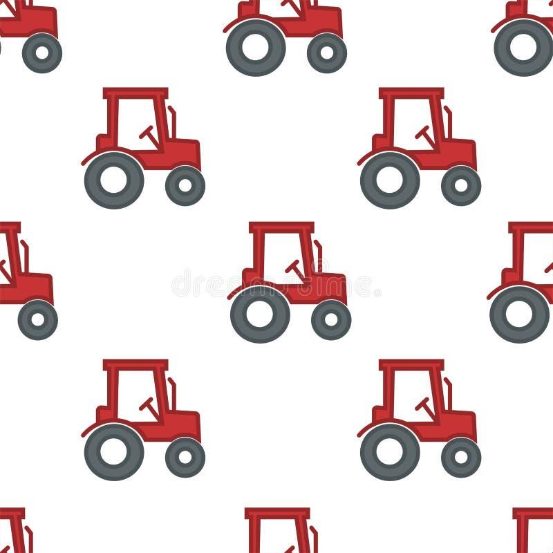 Tracteur ou véhicule sans couture de modèle de ferme et d'agriculture de moissonneuse illustration libre de droits
