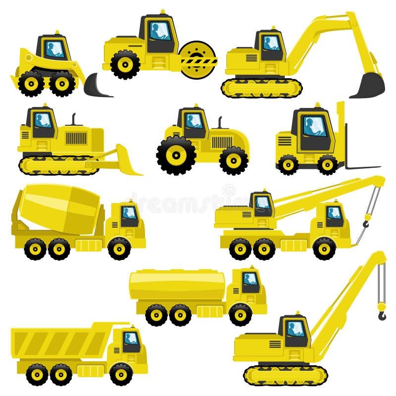 Tracteurs et camions illustration stock