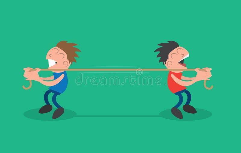 Traction de corde illustration libre de droits