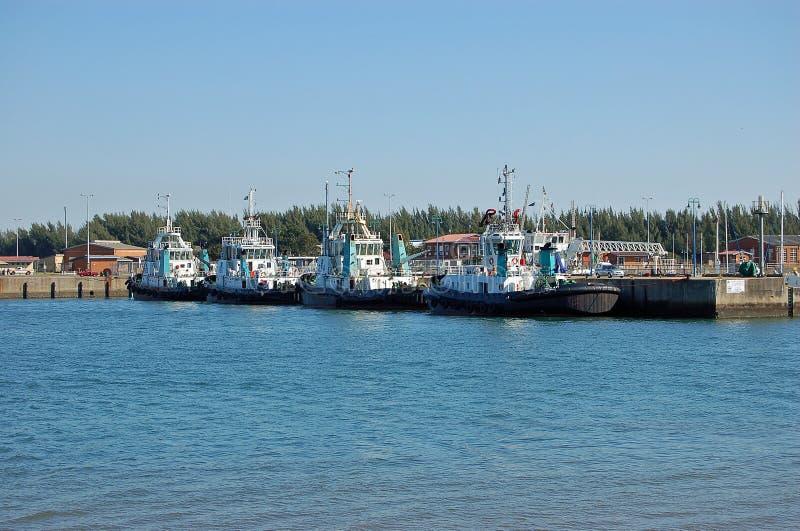 traction subite de bateaux photo libre de droits