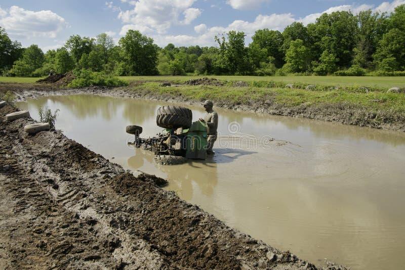 Tractions de barre et d'entraîneur de boue de Chuggars photo libre de droits