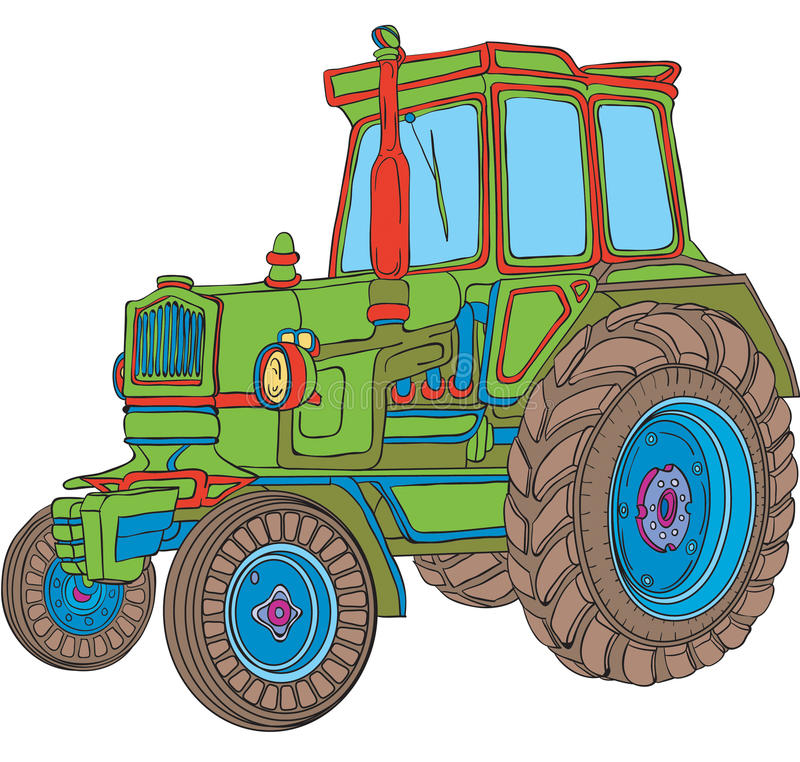 Download Tractor stock vector. Illustration of illustration, machine - 12203283