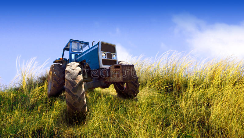 Download Tractor stock photo. Image of machinery, agronomic, blue - 13309558