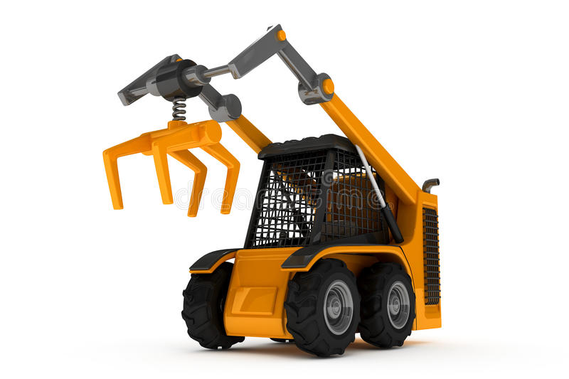 Tractor. Small loader for building vector illustration