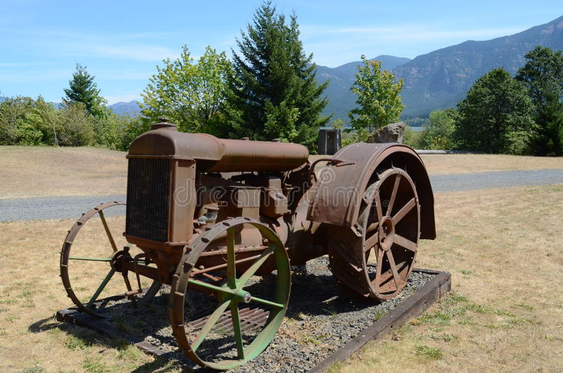 Tractor. Old rusty tractor near Portland Oregon royalty free stock image