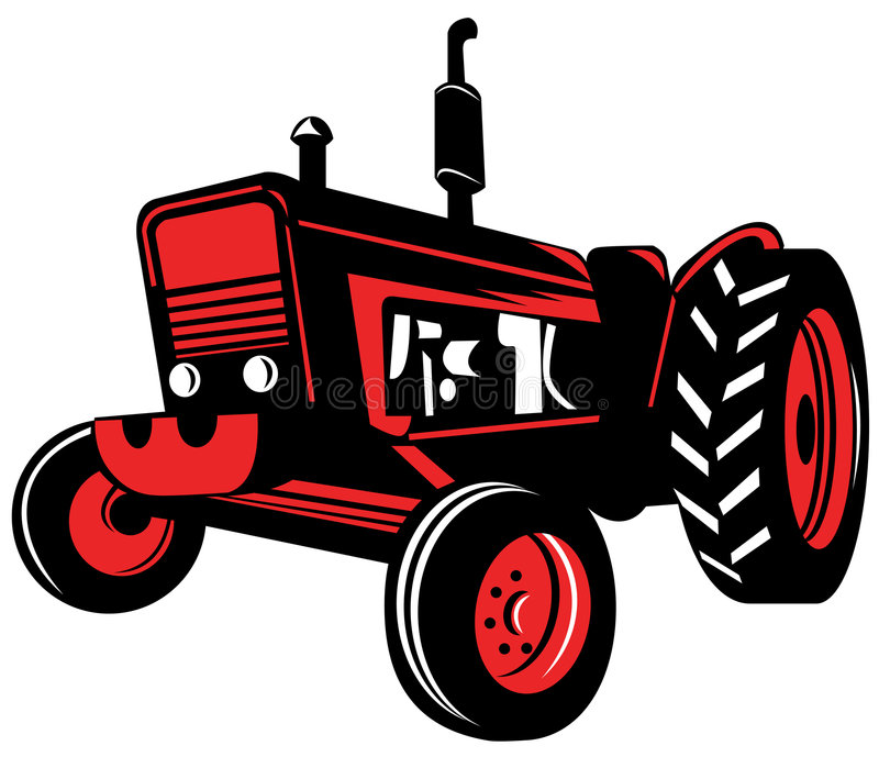 Tractor stock illustration