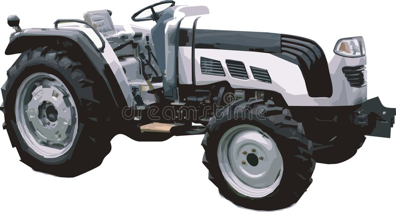 Tractor. Vector Illustration of a new white tractor vector illustration
