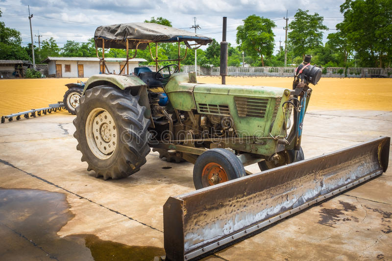Tractor for agriculture. / north thailand stock photography