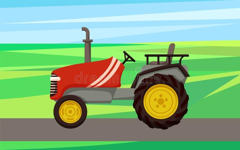 Tractor Agrimotor Machine Vector Illustration royalty free illustration