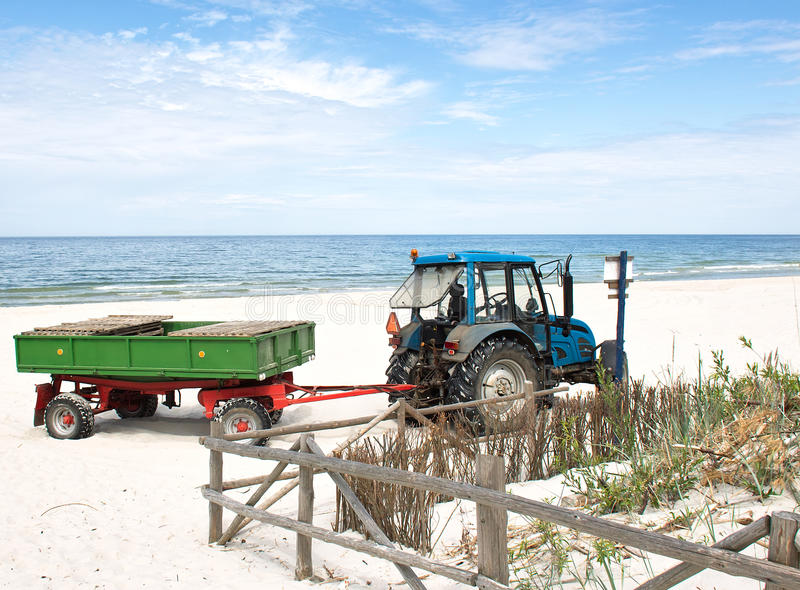 Download Tractor On The Beach. Stock Image - Image: 25390641