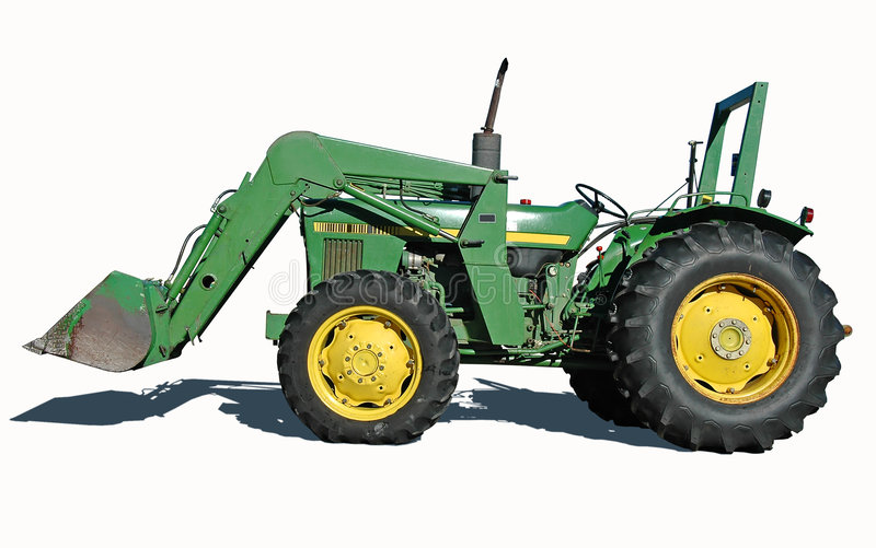 Tractor with Bucket stock images
