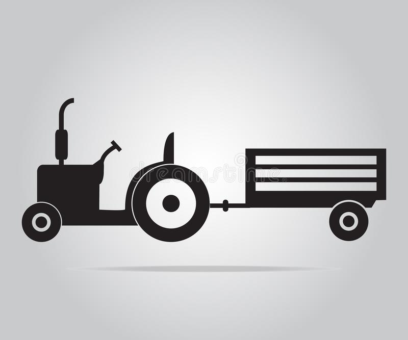 Tractor and cart icon illustration vector illustration