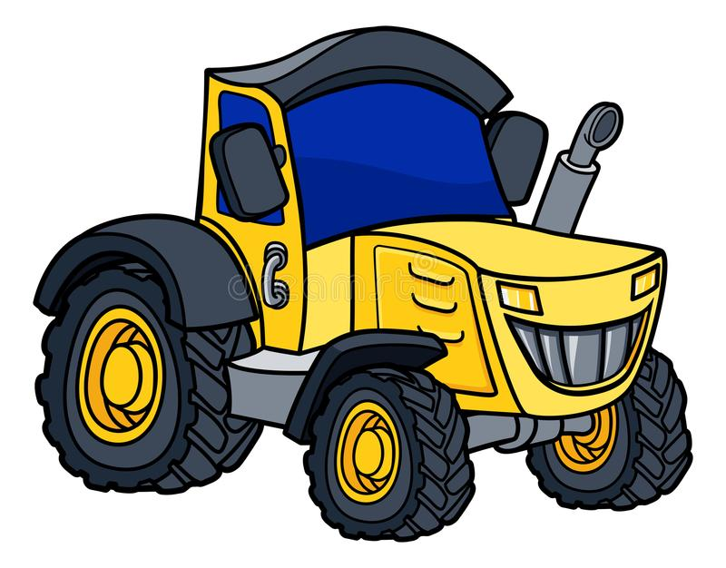 Tractor Cartoon. Cartoon tractor farm vehicle illustration royalty free illustration