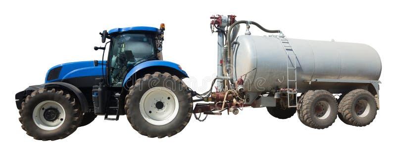Tractor con el tanque aislado foto de archivo libre de regalías