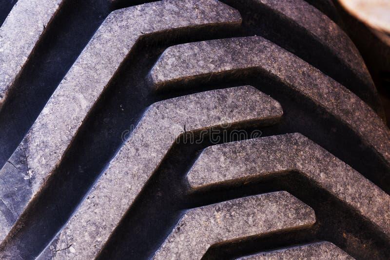 Tractor de la rueda Ruedas sucias fotografía de archivo