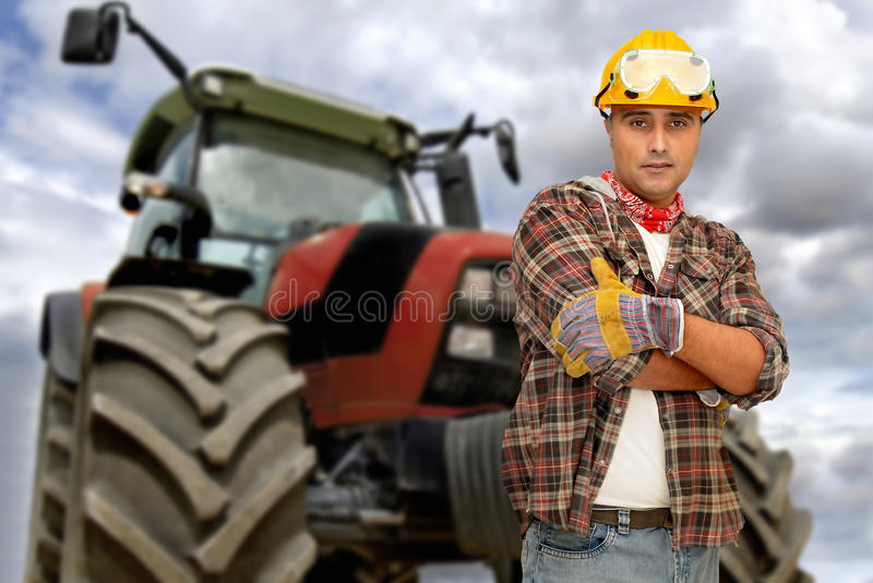 Download Tractor driver stock image. Image of handyman, people - 9564543