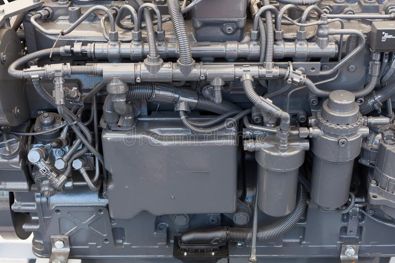 Tractor engine close up. New tractor engine close up royalty free stock photos