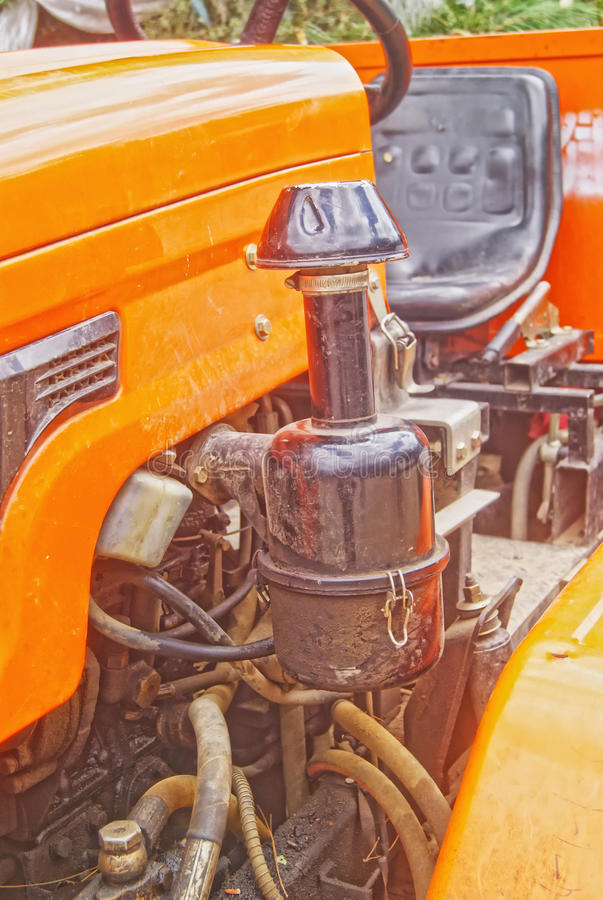 Tractor engine. In old style royalty free stock images