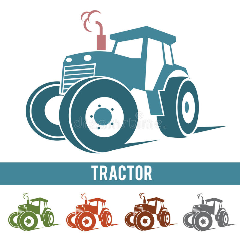 Tractor farm abstract icon logo on white background.  vector illustration