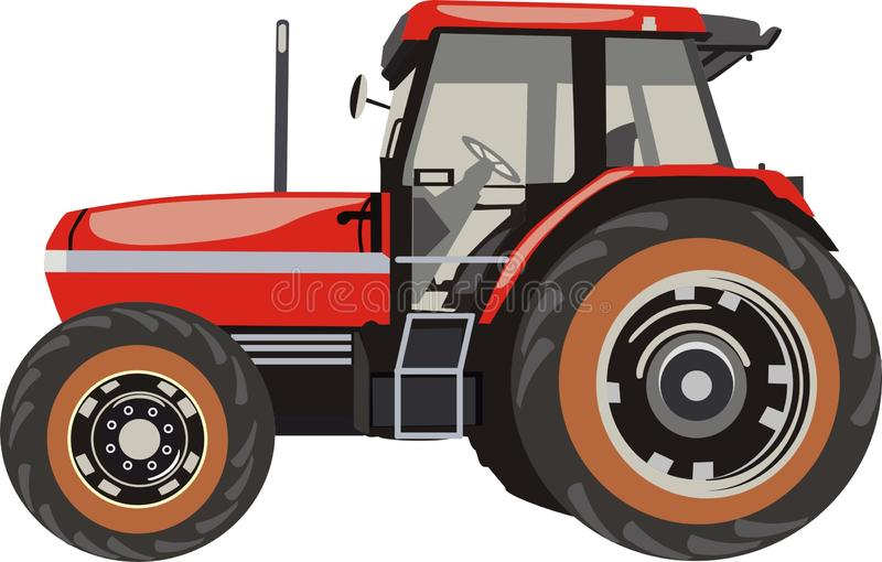 Tractor. For the farm. Red color royalty free illustration
