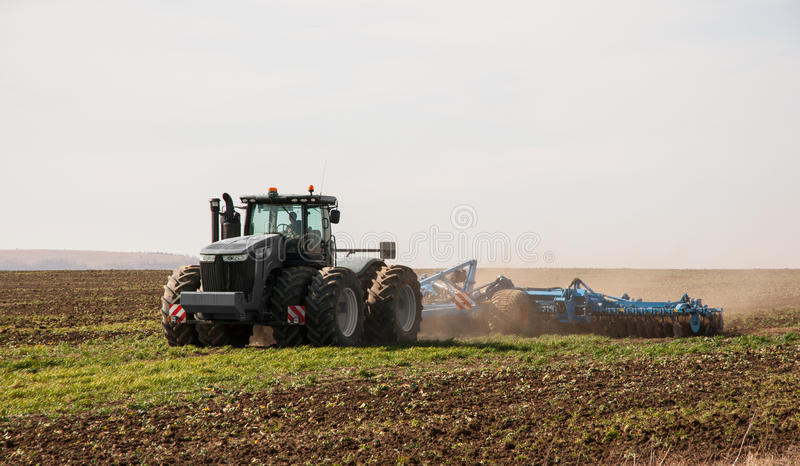 Tractor farming royalty free stock photography