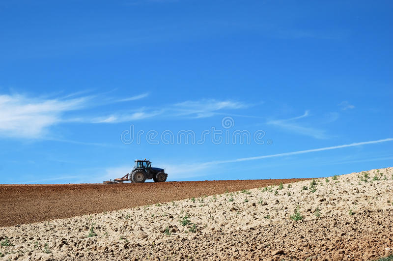 Download Tractor in the field stock image. Image of summer, plowing - 26555253