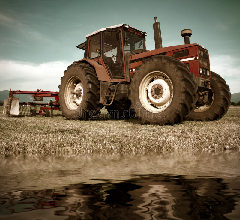 Download Tractor on field stock image. Image of health, cloud - 40374439